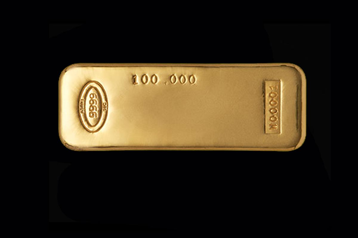 100 Oz Ash Gold Bar